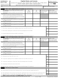 IRS Form 1120 2018 Schedule D - Capital Gains and Losses