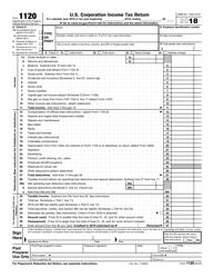 IRS Form 1120 2018 U.S. Corporation Income Tax Return