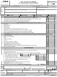"IRS Form 1120-H ""U.S. Income Tax Return for Homeowners Associations"", 2018"