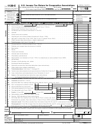 IRS Form 1120-C 2018 U.S. Income Tax Return for Cooperative Associations