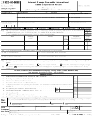 "IRS Form 1120-IC-DISC ""Interest Charge Domestic International Sales Corporation Return"""