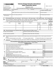 IRS Form 1120-IC-DISC Interest Charge Domestic International Sales Corporation Return