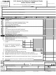 IRS Form 1120-SF U.S. Income Tax Return for Settlement Funds (Under Section 468b)
