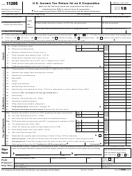 "IRS Form 1120S ""U.S. Income Tax Return for an S Corporation"", 2018"