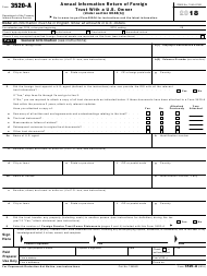 IRS Form 3520-A 2018 Annual Information Return of Foreign Trust With a U.S. Owner