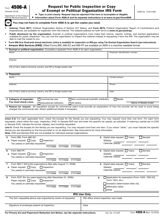 4506 t form pdf  IRS Form 11-A Download Fillable PDF, Request for Public ...