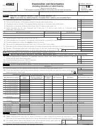 IRS Form 4562 2018 Depreciation and Amortization (Including Information on Listed Property)
