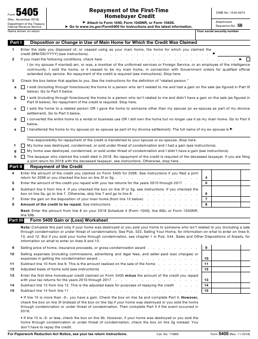 IRS Form 5405 Fillable Pdf