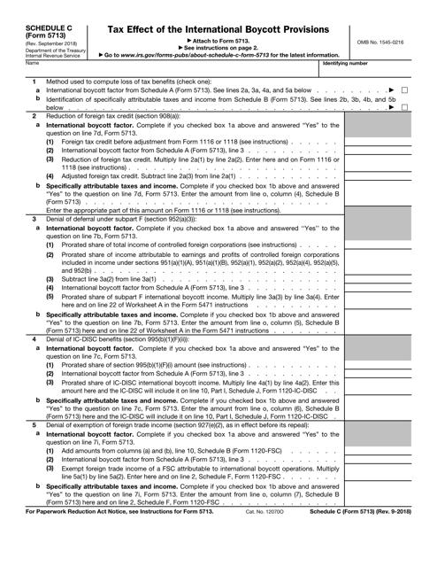 IRS Form 5713 Printable Pdf