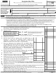 "IRS Form 8606 ""Nondeductible Iras"", 2018"