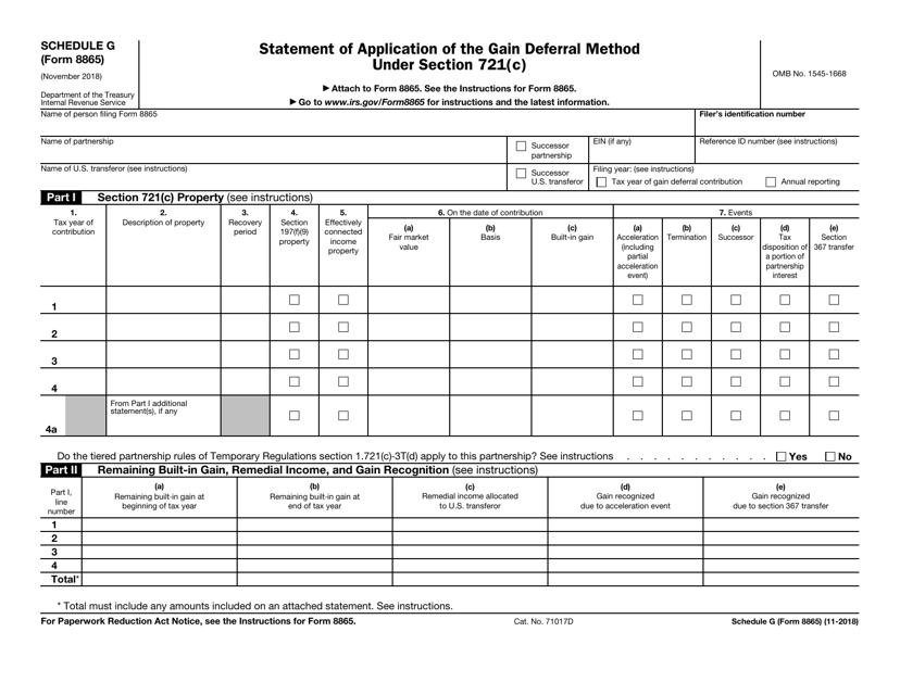 IRS Form 8865 Printable Pdf