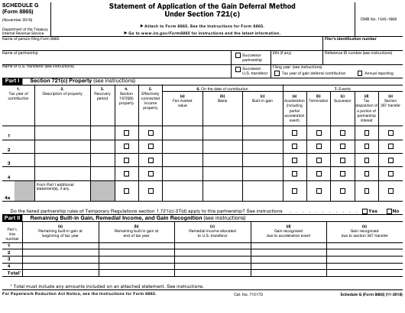 IRS Form 8865 Fillable Pdf