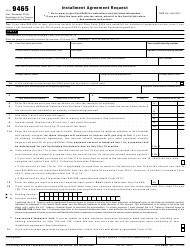 irs payment agreement form 9465
