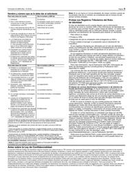 """IRS Formulario W-9(SP) """"Solicitud Y Certificacion Del Numero De Identificacion Del Contribuyente"""" (Spanish), Page 6"""