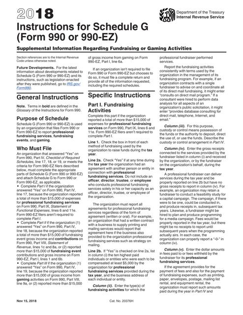 IRS Form 990 2018 Printable Pdf