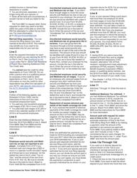 Instructions for IRS Form 1040-ss - U S  Self-employment Tax Return