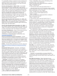 """Instructions for IRS Form 1099-R, 5498 """"Distributions From Pensions, Annuities, Retirement or Profit-Sharing Plans, Iras, Insurance Contracts, Etc."""", Page 11"""