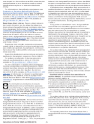 """Instructions for IRS Form 1099-R, 5498 """"Distributions From Pensions, Annuities, Retirement or Profit-Sharing Plans, Iras, Insurance Contracts, Etc."""", Page 5"""