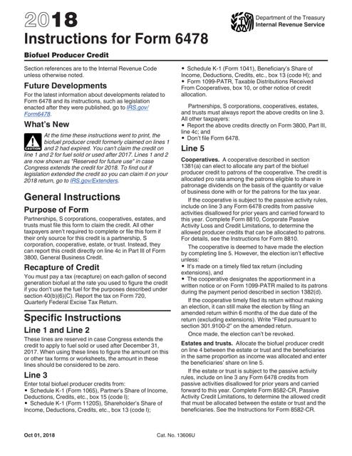IRS Form 6478 2018 Printable Pdf