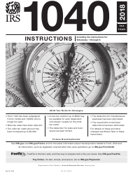 """Instructions for IRS Form 1040 """"U.S. Individual Income Tax Return"""", 2018"""