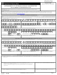 VA Form 21-22 Appointment of Veterans Service Organization as Claimant's Representative