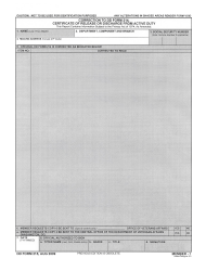 DD Form 215 Correction to DD Form 214, Certificate of Release or Discharge From Active Duty