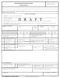 DD Form 2249 DoD Building Pass Application - Draft