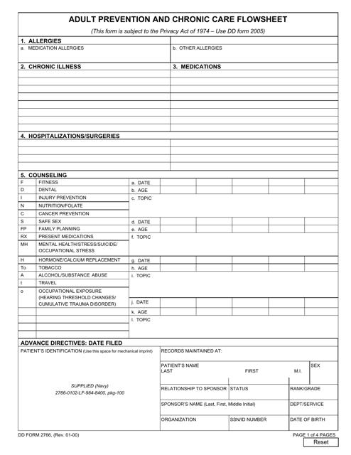 DD Form 2766 Fillable Pdf