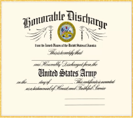 "DD Form 256 ""Honorable Discharge Certificate"""