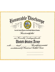 DD Form 256 Honorable Discharge Certificate
