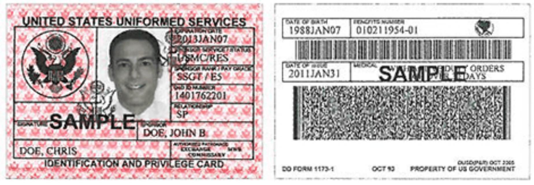 DD Form 1173-1 Printable Pdf