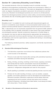 """""""Biosafety in Microbiological and Biomedical Laboratories: Section IV - Laboratory Biosafety Level Criteria"""""""