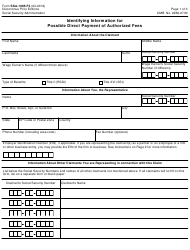 Form SSA-1695-F3 Identifying Information for Possible Direct Payment of Authorized Fees