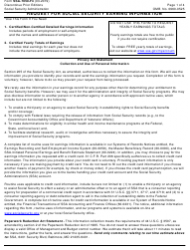 Form SSA-7050-F4 Request for Social Security Earnings Information