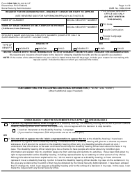 Form SSA-789 Request for Reconsideration - Disability Cessation Right to Appeal