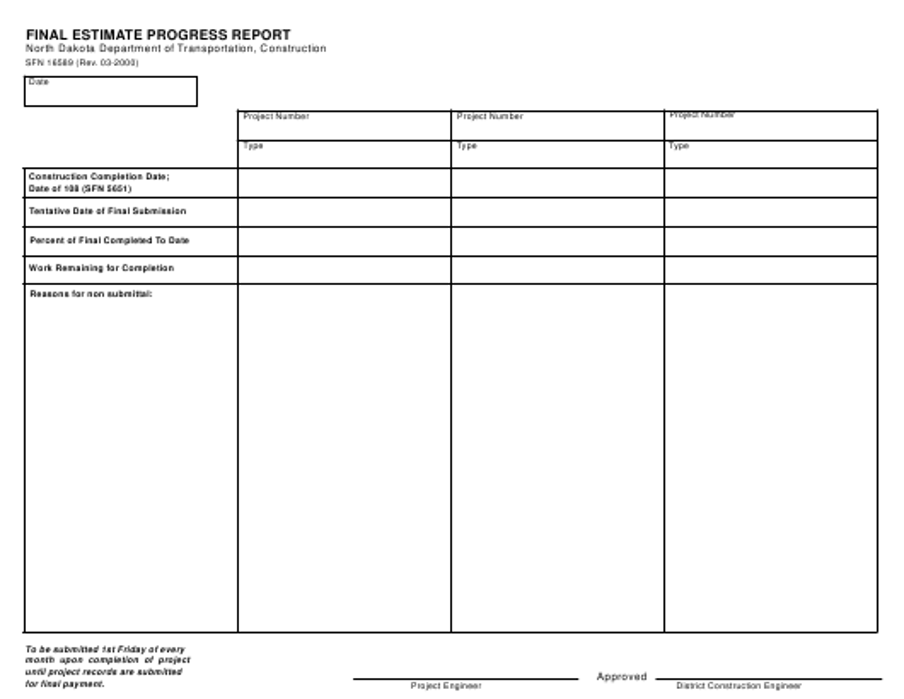 Form SFN16589 Printable Pdf