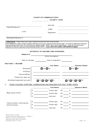 """Uniform Domestic Relations Form 1 """"Affidavit of Income and Expenses"""" - Ohio"""
