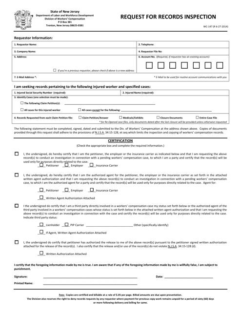 Form WC-147  Printable Pdf