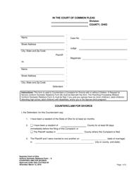 "Uniform Domestic Relations Form 8 ""Counterclaim for Divorce"" - Ohio"