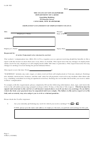 "Form 53WC ""Employee's Statement of Employment Status"" - New Hampshire"