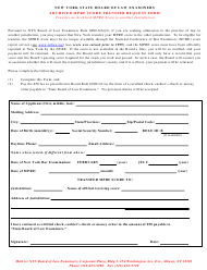 """Archived Mpre Score Transfer Request Form"" - New York"