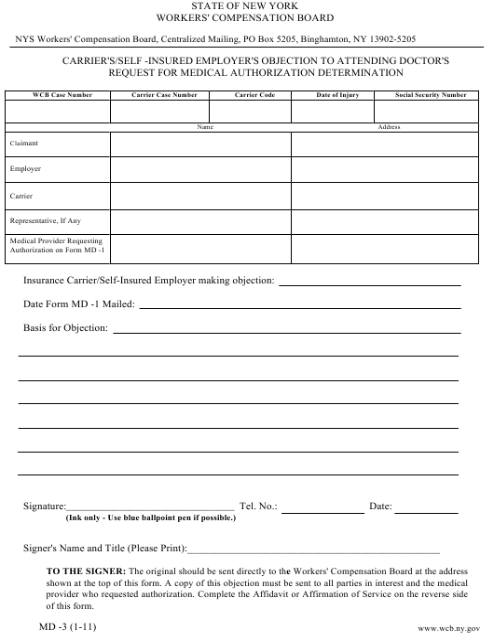 Form MD-3  Printable Pdf