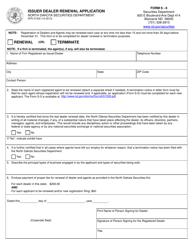 "Form SFN51532 (S-6) ""Issuer Dealer Renewal Application"" - North Dakota"