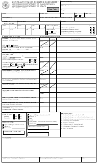 "Form SFN1819 ""Mch/Health Tracks Pediatric Assessment"" - North Dakota"