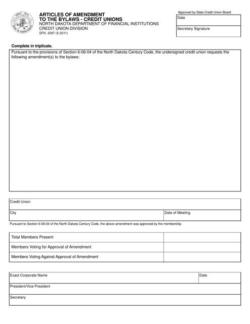 Form SFN2097 Printable Pdf