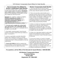 """Form AFF-1 """"Affidavit for Death Benefits"""" - New York"""