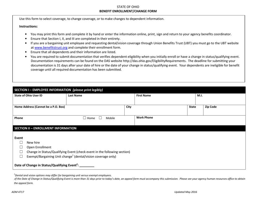 Form ADM4717  Printable Pdf