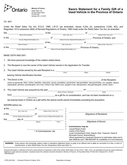 Form 1157E Printable Pdf