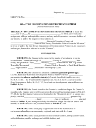 """Grant of Conservation Restriction/Easement (Forest Preservation Area)"" - New Jersey"