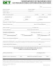 "OJT Form 2 ""Ojt Program Enrollment/Registration Form"" - New Hampshire"